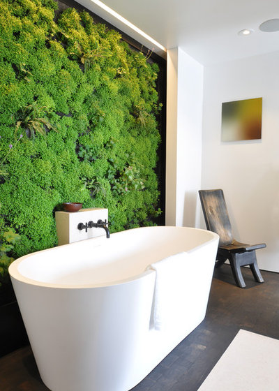 Contemporary Bathroom A Sacred Space to Bathe by siol in addition to Habitat Horticulture