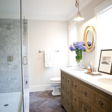 Transitional Bathroom by Elizabeth Reich