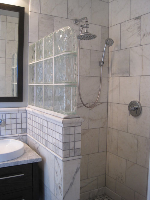Glass Block Half Wall Houzz