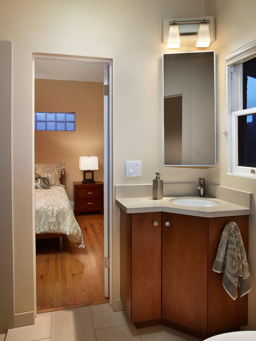 Corner Sink Vanity Houzz - Bathroom corner sinks and vanities for bathroom decor ideas