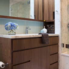 Midcentury Bathroom by Regan Baker Design