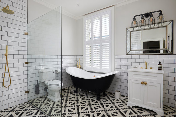 Transitional Bathroom by Plantation Shutters Ltd