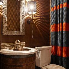 Transitional Bathroom by Kristina Wolf Design