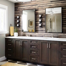 Transitional Bathroom by Kristina Wolf Design