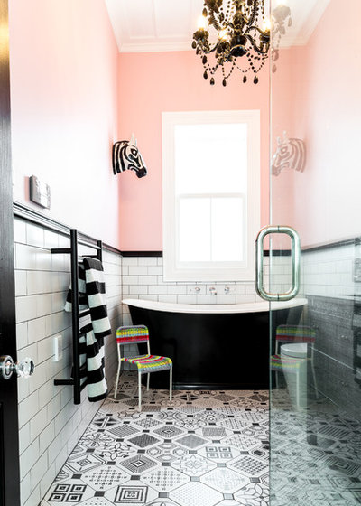 Eclectic Bathroom by August & Co Design