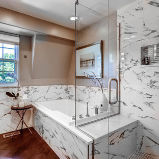 A Transitional Master Bath with Timeless Finishes