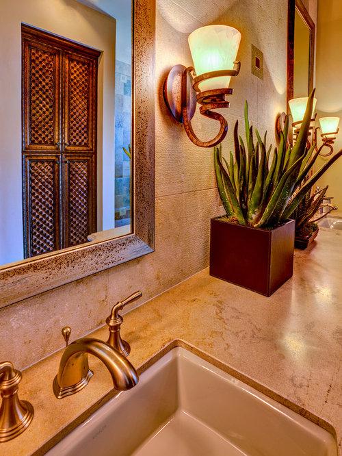 mediterrane badezimmer mit laminat waschtisch design. Black Bedroom Furniture Sets. Home Design Ideas