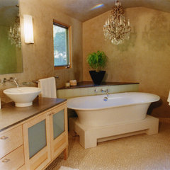contemporary bathroom by valerie pasquiou interiors + design, inc