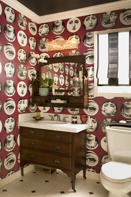 eclectic bathroom by Get Back JoJo