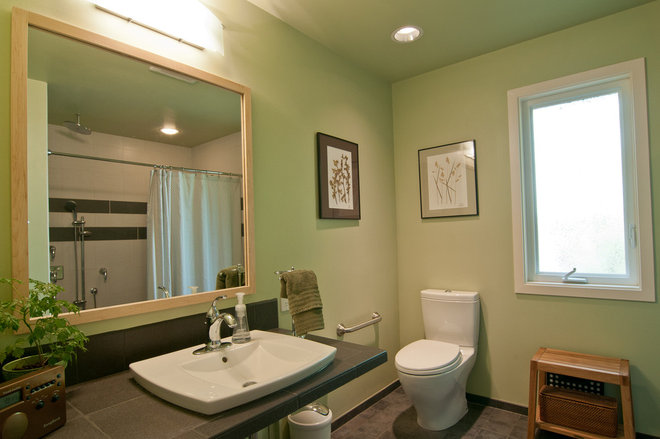 Traditional Bathroom by Louise Lakier