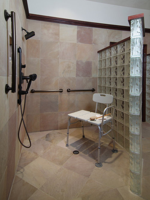 Handicapped accessible shower ideas pictures remodel and Handicap accessible bathroom design ideas