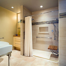 Contemporary Bathroom by Patricia L. Caulfield, LLC