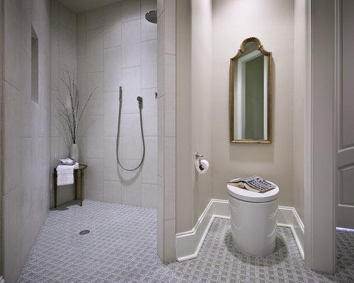 Salles de bains et wc contemporains avec une douche for Salle de bain avec wc separe