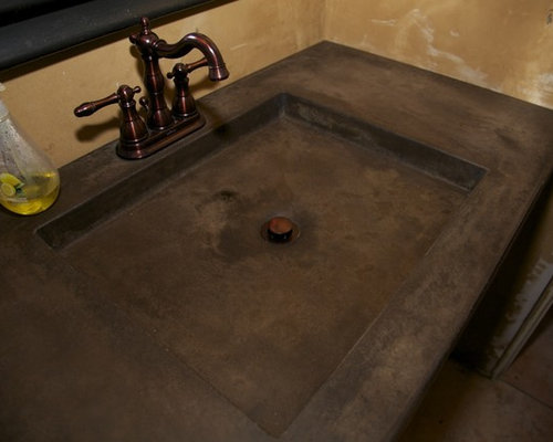 Stained Concrete Countertops Home Design Ideas Pictures