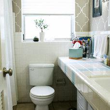 Eclectic Bathroom by Mina Brinkey