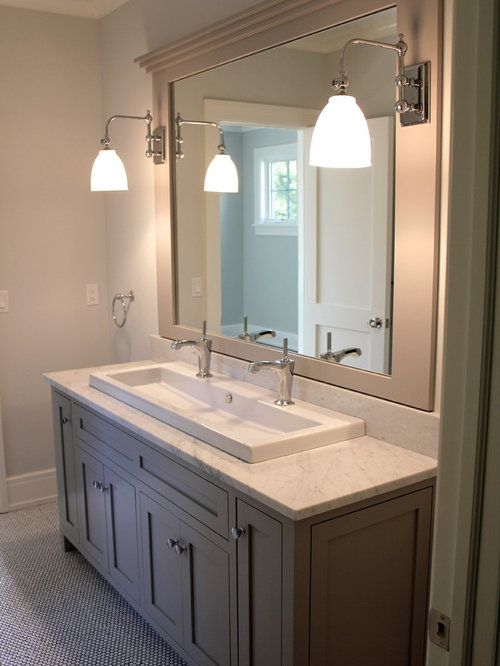 Jack and jill vanity home design ideas renovations photos for Bathroom sink designs
