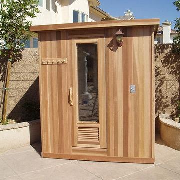 Additional View of Custom Outdoor Sauna