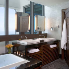 Asian Bathroom by Peter Zimmerman Architects