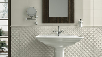 Adex Spanish Tile - Neri Series Embossed Botanical Deco