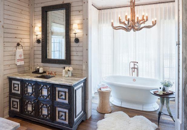 Rustic Bathroom by Francesca Owings Interior Design