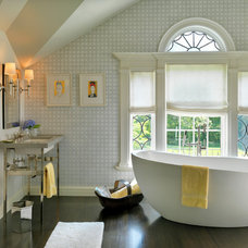 Transitional Bathroom by Meyer & Meyer, Inc.