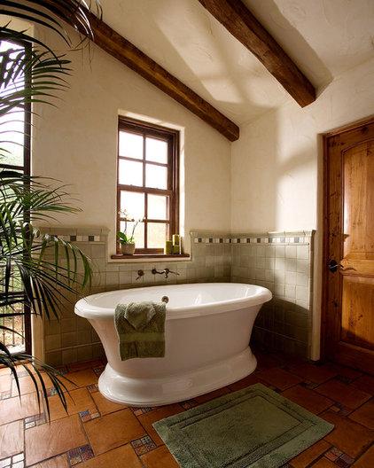 Southwestern Bathroom by DD Ford Construction