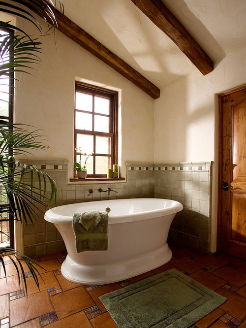 Houzz earth tone bath accents design ideas remodel for Bathroom decor earth tones