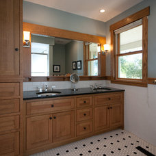 Craftsman Bathroom by Knutson Residential Design, LLC