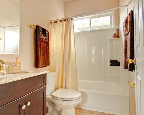 Door curtains bathroom design ideas renovations photos - Curtains with orange walls ...