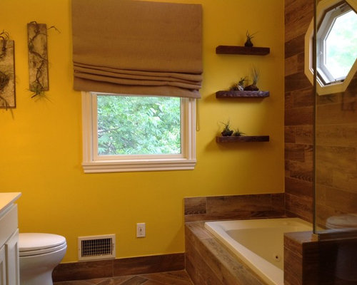 Yellow And Brown Bathroom Decor Of Yellow Bath Design Ideas Pictures Remodel Decor With