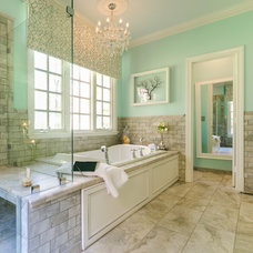 transitional bathroom by Designs by Cheryl
