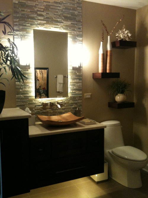 Tropical Chicago Bathroom Design Ideas Remodels Photos