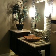 tropical bathroom by J. Powless Fine Cabinetry