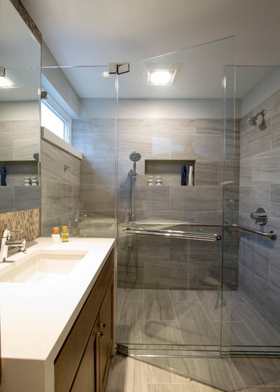 Transitional Bathroom by Princeton Design Collaborative