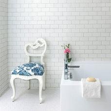 Transitional Bathroom by Lori Dennis, ASID, LEED AP