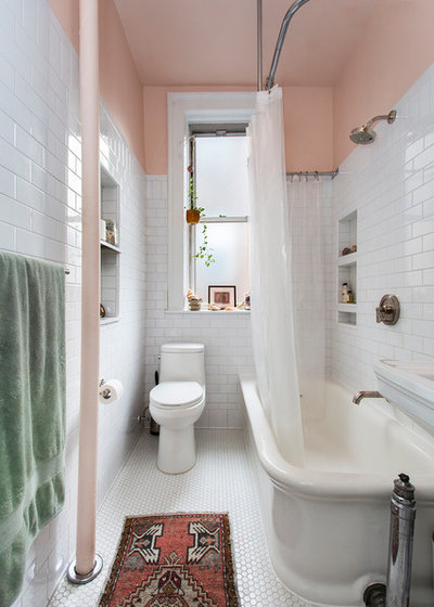 Transitional Bathroom by Dixon Projects