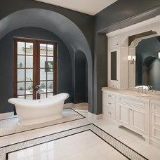 Traditional Bathroom by AJ Design Studio