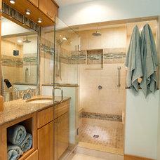 Transitional Bathroom by Case Design & Remodeling Indy