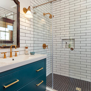 This is an example of a traditional bathroom in San Francisco.