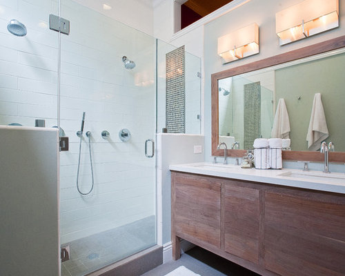Inspiration for a timeless alcove shower remodel in San Francisco. Bathroom Vanities Ideas   Houzz