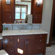 Traditional Bathroom by TBR Marble & Granite, Inc