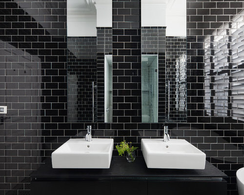 Photo Of A Contemporary Bathroom In Melbourne With A Freestanding Tub, An  Alcove Shower,