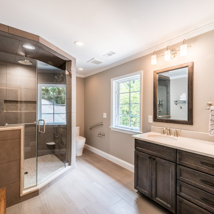 Alexandria Aging In Place Master Bath Remodel with Closet Organization