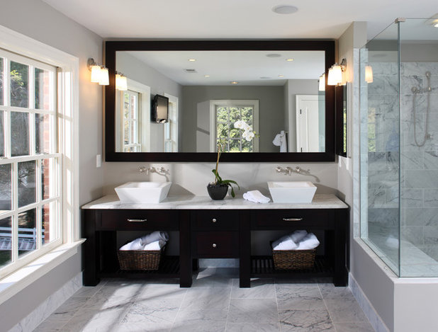 Transitional Bathroom by Lori Shaffer