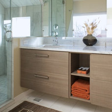 Contemporary Bathroom by kabi kitchen and bath cabinets