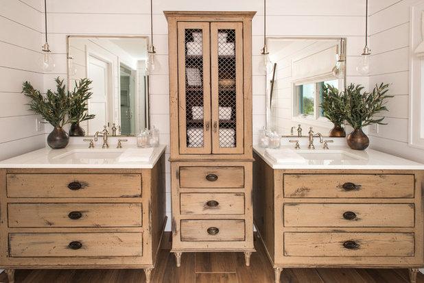 Fresh Beach Style Bathroom by Penn Contractors Inc