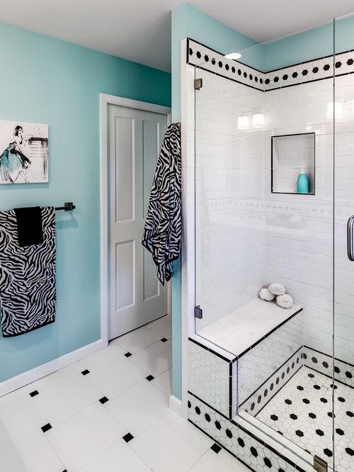 Inspiration For A Timeless White Tile Alcove Shower Remodel In San Francisco
