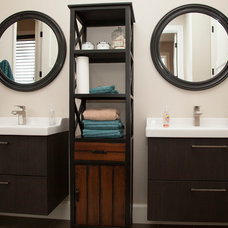 Transitional Bathroom by Whitney Lyons