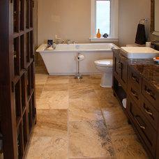 Craftsman Bathroom by Timeless Stone & Granite