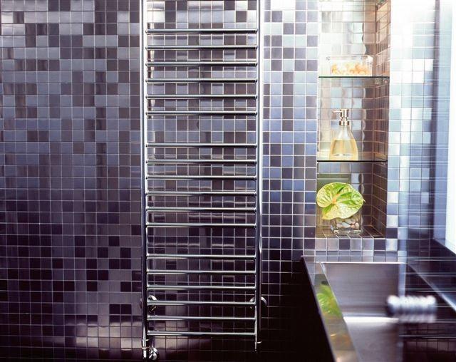 Contemporain Salle de Bain by ALLOY Solid Metal Tiles